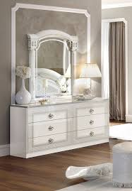 Silver Mirrored Bedroom Furniture Aida White W Silver Camelgroup Italy Classic Bedrooms Bedroom