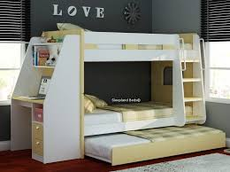 bunk beds with desk wooden olympic by sleepland inside bed trundle and ideas 10