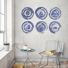 Borden Tegels Delfts Blauw Set Van 6 Behangrijk Panelen Set
