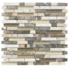 Bq Kitchen Tiles Stone Glass Emperador Mosaic Wall Tile L300mm W308mm