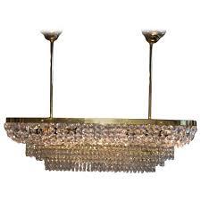 palwa crystal prism chandelier mid century german