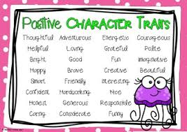 Character Traits Anchor Chart Character Traits Anchor Charts Positive Negative Neutral