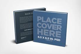 square children s book mockup template