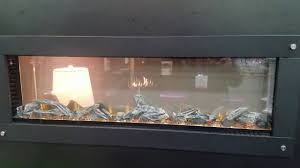 napoleon see through electric fireplace