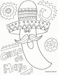 With over 4000 coloring pages including cinco de mayo. Cinco De Mayo Coloring Pages Doodle Art Alley
