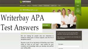 Writerbay Apa Formatting Test Answers Bzn Freelance