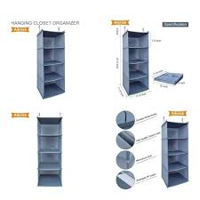 fabric closet organizer for canvas shelves hanging collapsible oxford cloth bathrooms good looking astounding material