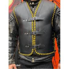 more views heavy duty nz lace leather motorcycle vest
