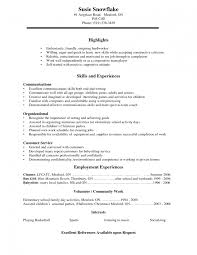 Resume Building Volunteer Workvolunteer Business Letter