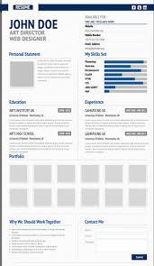 Creative virtual resume template preview
