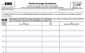 Types Of Coverage Exemptions Chart All About Irs Form 8965