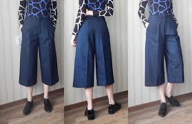 Culottes Pattern New Lockstitch And Two Smoking Needles Denim Culottes