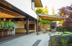 flat patio cover design