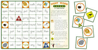 sight word 1st grade sight word safari board game