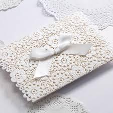 custom paper invitations FAMU Online Lace Wedding Invitations Elegant Embossed White Ribbon Butterfly Envelope Paper Printing Custom Wedding Invitation Cards cw