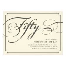 Invitations Formal Formal 50th Birthday Invitation Card