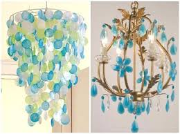 blue crystal chandeliers turquoise flower by and shell via chandelier drops blue crystal chandeliers