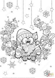 Small Picture Christmas Owl Zentangle coloring page Free Printable Coloring Pages