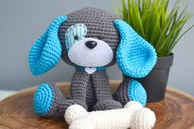 Crochet Dog Pattern Mesmerizing Cute Dog Crochet Pattern Domino The Dog Amigurumi Crochet Pattern