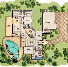 luxury spanish mediterranean home plans floor plan style wit