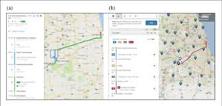 Tripplanner Com Online Routing Results From A Google Api And B Rta Trip Planner