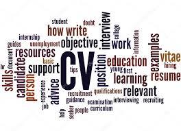 Cv Curriculum Vitae Word Cloud Concept 2 Stock Photo