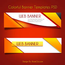 banner design template colorful web banners vector design template psd free