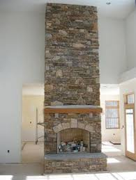 Interior, Fireplace, Wall, Keystone, Thin Ledge Stone, Rustic ...