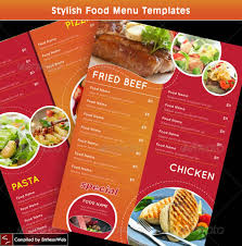 Food Menu Design Stylish Food Menu Templates Entheos