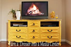 Vintage Dresser into Media Center - No. 2 Pencil