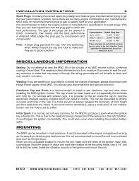 miscellaneous information mounting msd 7222 7al 2 ignition miscellaneous information mounting msd 7222 7al 2 ignition control installation user manual page 3 16