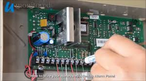 honeywell how to wire your alarm panel