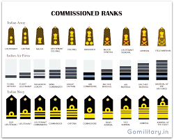 Indian Army Rank Structure Chart Equivalent Rank Insignia Of The Indian Armed Forces Army