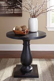 rustic furniture edmonton. Edmonton Thomasville Tables Rustic Accents Round End Table Ashley Home Gallery Black Oval Glass Top Mersman Furniture Dark Brown