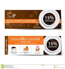 coffee discount coupon or gift voucher vector template stock coffee coupon discount template design royalty stock images