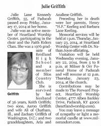 Obituary for Julie Griffith Lane (Aged 55) - Newspapers.com