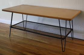 Mid Century Modern Hairpin Coffee Table | Picked Vintage