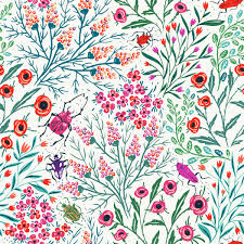 Summer Pattern Magnificent Summer Pattern Background Art Cute Illustration Nature Colors