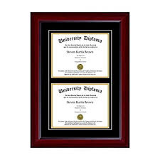 com double diploma frame double matting for x  double diploma frame double matting for 8 5 quot x 11 quot tall diploma mahogany