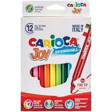"""<b>Фломастеры Carioca</b> """"<b>Joy</b>"""", 12цв., смываемые, картон, европодвес"""