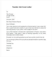 Cover Letter For Teacher Position Cover Letter Teaching Position