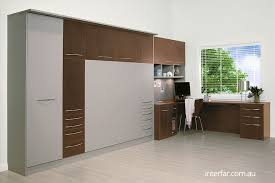 wall bed office. double fold down wall bed with storage and cnr home office day shot