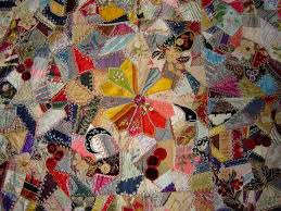 277 best Antique Crazy Quilts images on Pinterest | Bed duvets ... & IN THE FOLD: Antique Crazy Quilts - Floral Quilt Adamdwight.com