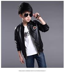 teenage boys er pu leather jacket 2017 brand new year kids leather jacket big boys outerwear