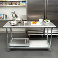 Stainless Steel Work Table With Backsplash Adorable 48 Gauge Economy 48 X 48 448 Stainless Steel Work Table With