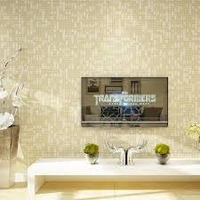 white beige mosaic lattice wallpaper modern simple non woven bedroom living room sofa tv background wall wall papers home decor xp wallpapers yellow
