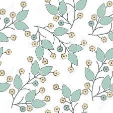 Naadloos Die Patroon Met Bloemen En Bladeren Op Witte Achtergrond