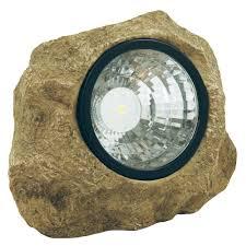Rock Spot Light Details About Moonrays Solar Powered 35 Watt Poly Resin Led Landscape Rock Spot Light