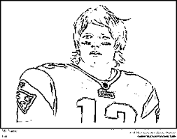 Small Picture Tom Brady Coloring Pages New England Patriots Coloring Pages