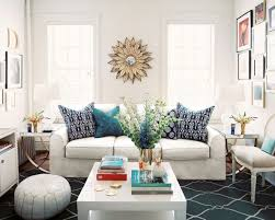 Moroccan Decorating Living Room Furniture Moroccan Living Room Style With Sunburst Mirror And